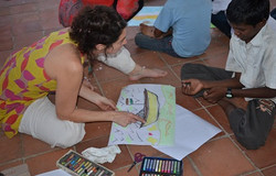un pont entre les cultures - art thérapie humanitaire