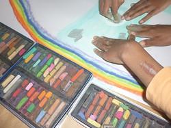 dessin à 4 mains - art thérapie