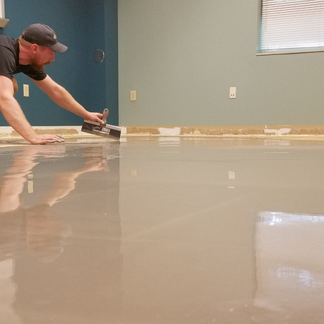 Wow, leveling a subfloor is not very hard!