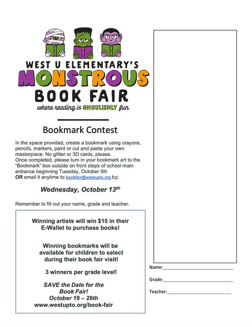 BookFair Bookmark Contest!