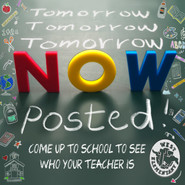Teacher Lists Are Posted at WUES