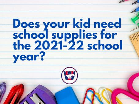 School Supplies for 2021-22 School Year