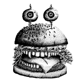 Ever have a burger take a bite outta you?
