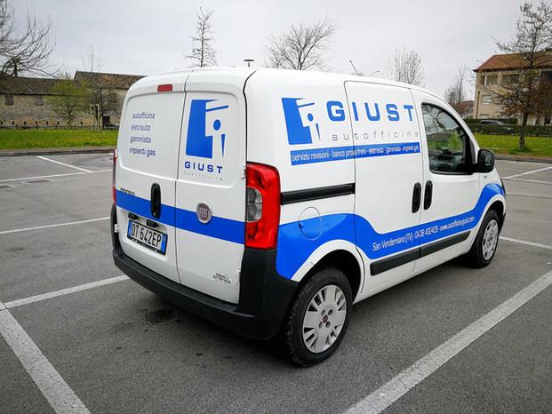 Idea&Grafica   decorazione furgone Giust