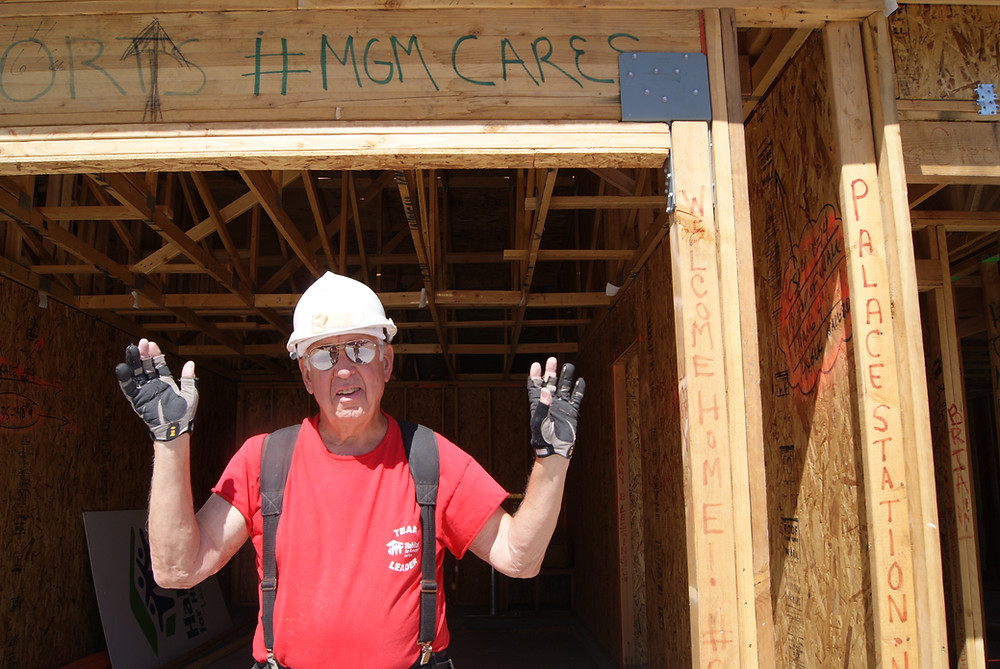 Pete the Saw Man at a Job Site for Habitat For Humanity Las Vegas