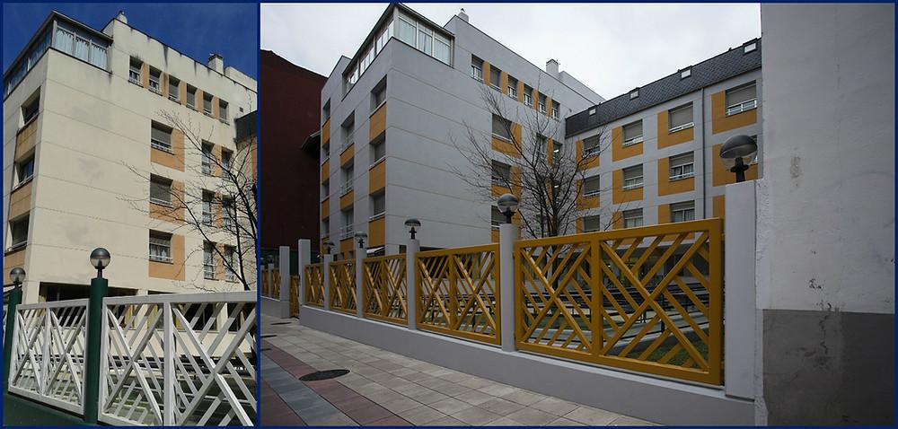 Fachada Residencia Alborada. Antes y después