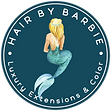 Hair by Barbie Logo SECONDARY LOGO #1 UP