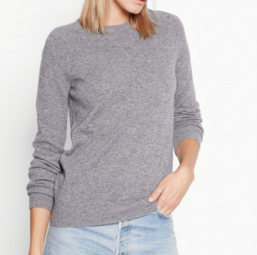 Available at https://www.equipmentfr.com/sloane-cashmere-crew-neck-light-heather-grey