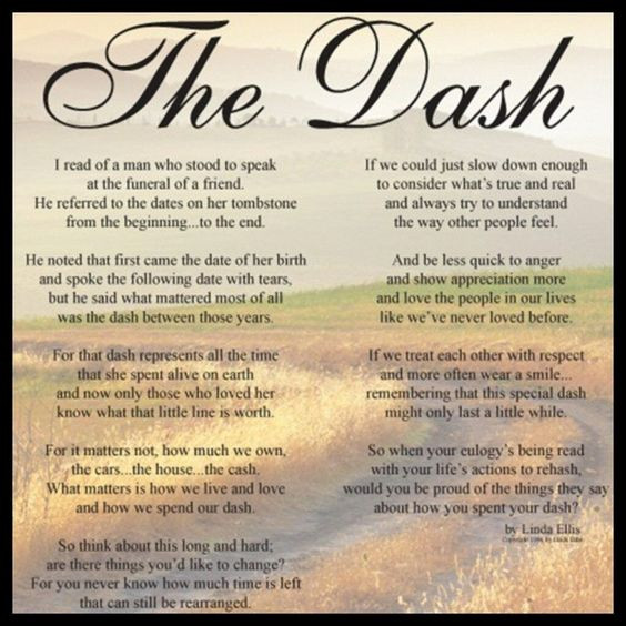 Living Your Dash