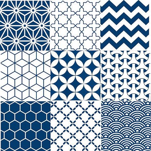 Blue Geometric Garden WMIX6