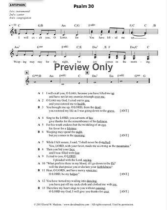 Psalm 30 preview
