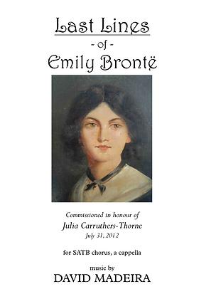 Last Lines of Emily Brontë