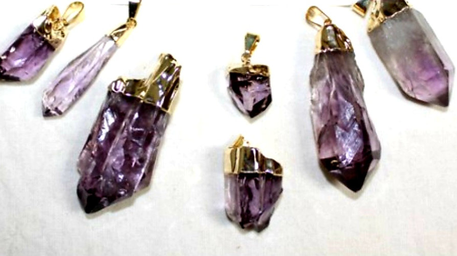 Natural Amethyst Necklace and Charm