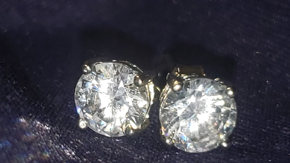 14kt Gold Plated CZ Studs