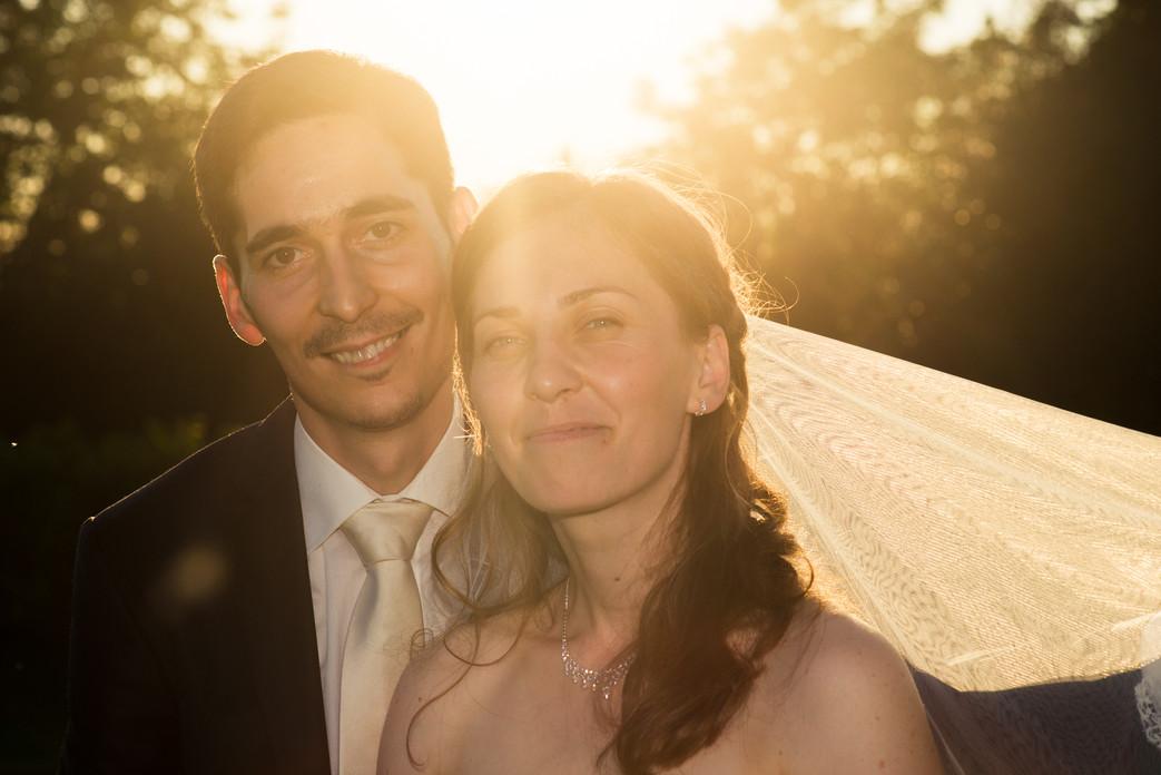 Hochzeitsfotos Abendsonne