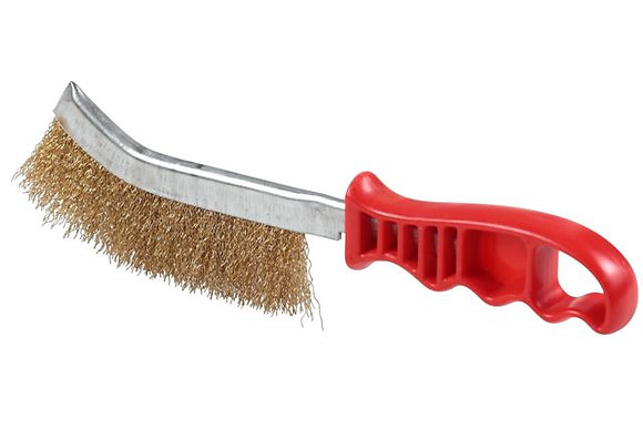BRUSH-HAND 1R PLAS HANDLE B/C (RED)