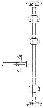 LATCH KIT- VAN DOOR H/D 220MM HANDLE