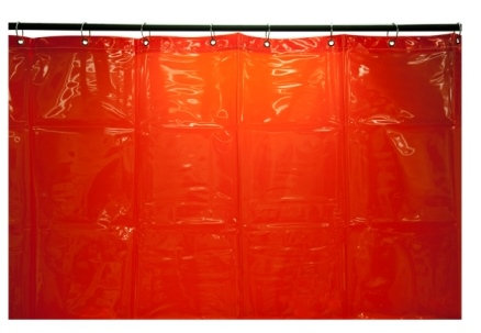 CURTAIN RED 1.8X1.8 M