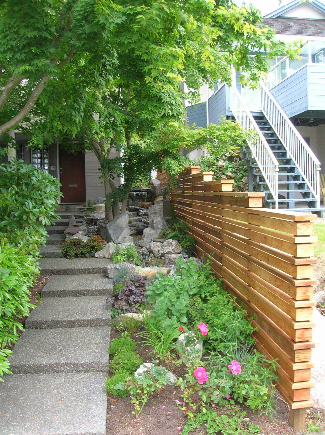 Custom clear cedar fence