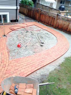 Creative paver walkway