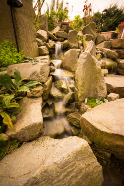 Broom stone water feature