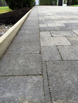 Paver patio, large walkway