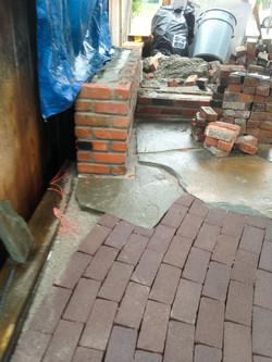 Clay pavers meet flagstone