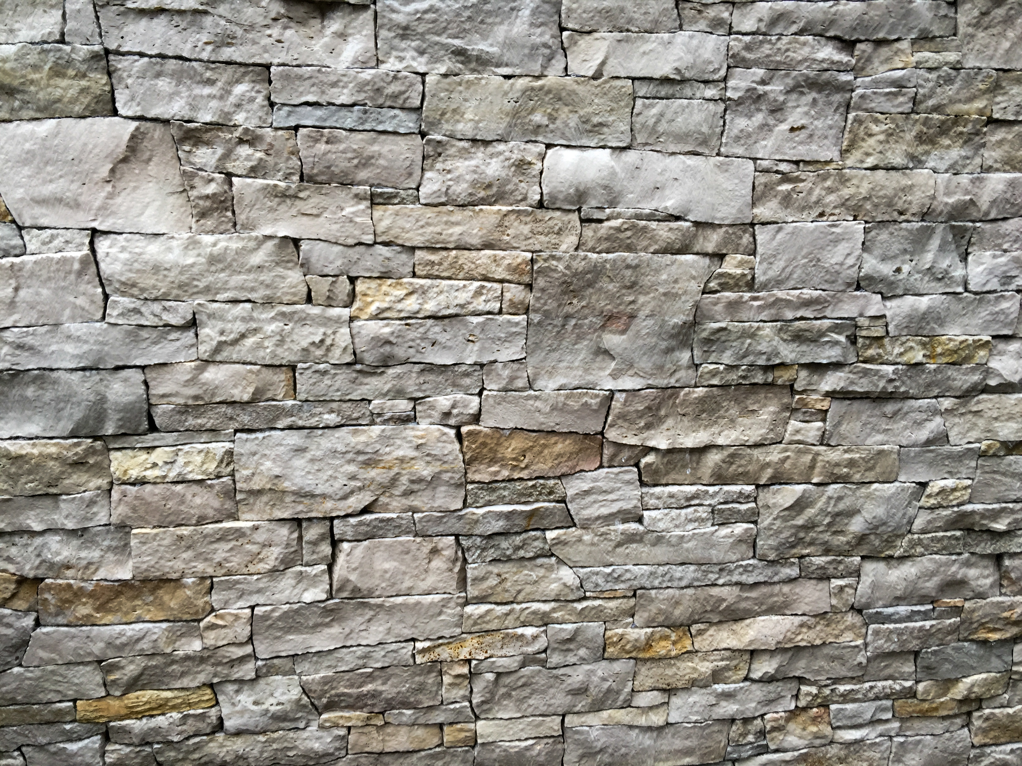 Water wall stone facing