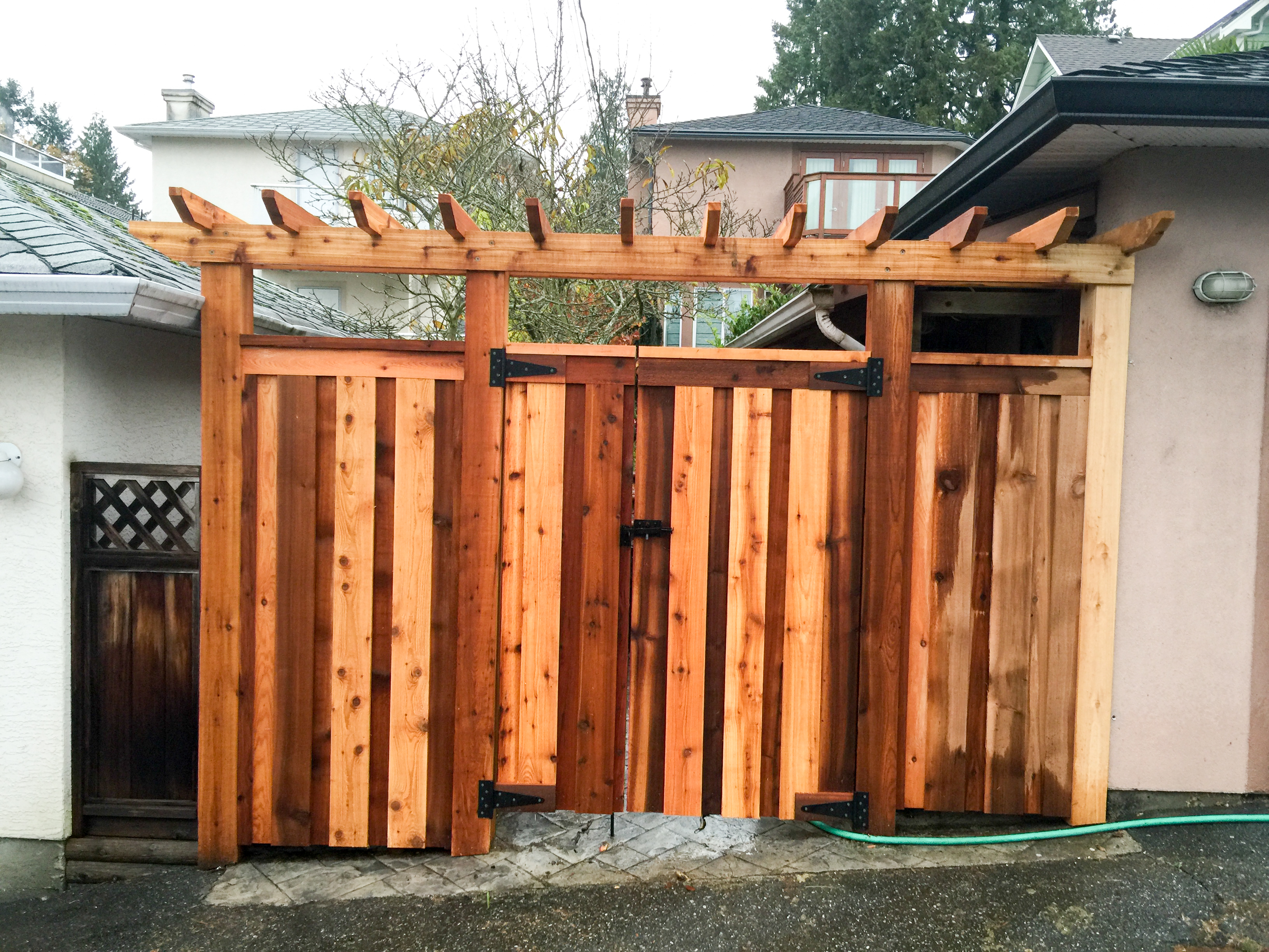 Custom cedar fence and gate