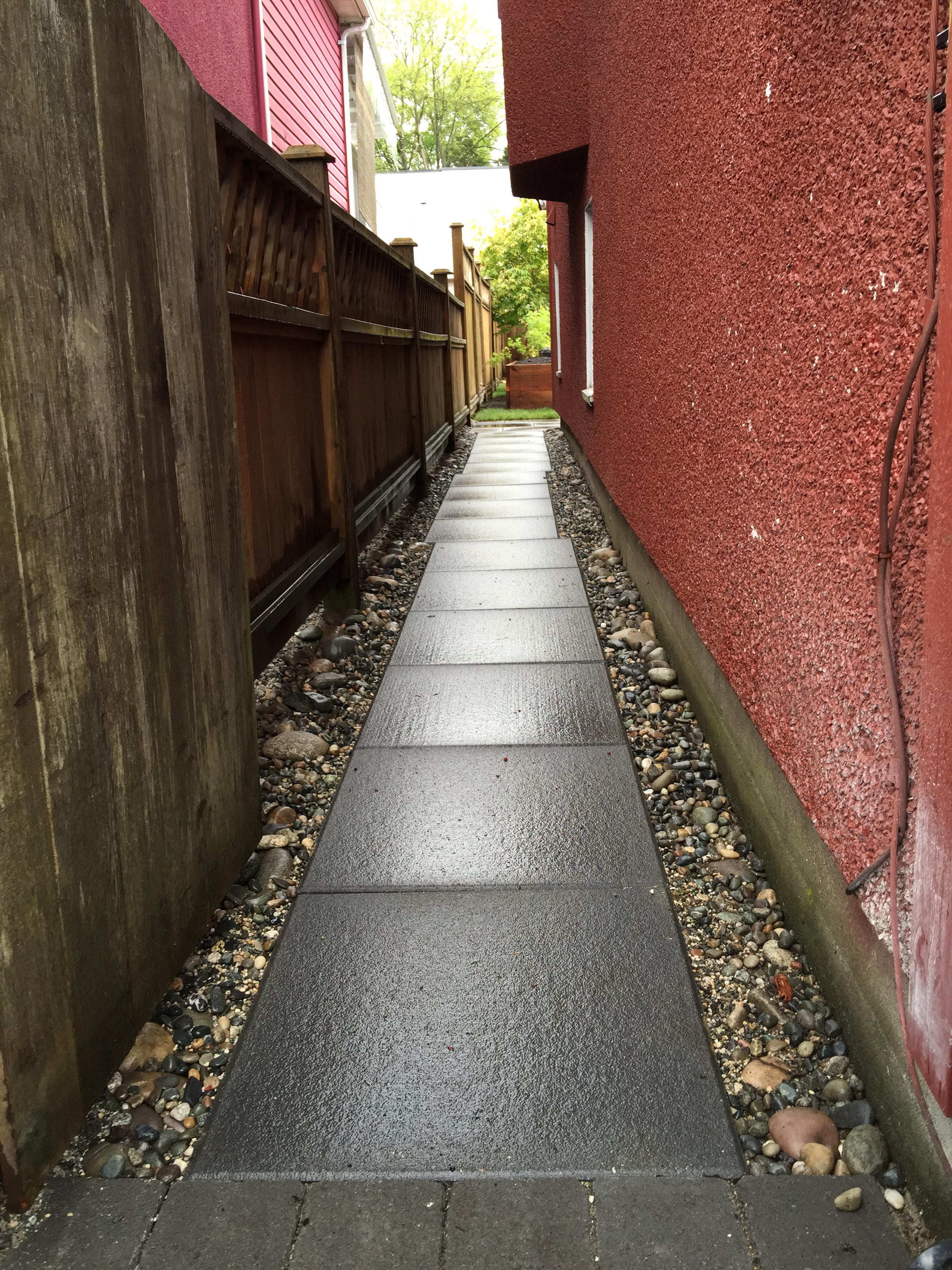Concrete slab walkway