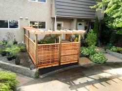 Cedar Lattice fence with pergola