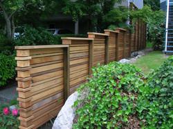 Custom clear cedar fence
