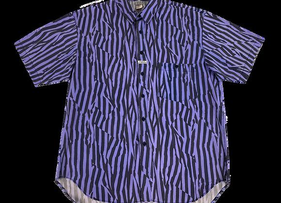 Purple Zebra Summer Button Up