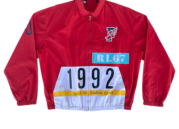 Archive Polo by Ralph Lauren Spring 1992 Stadium Games Track Jacket