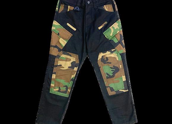 Camo Patchwork Cargo Pants