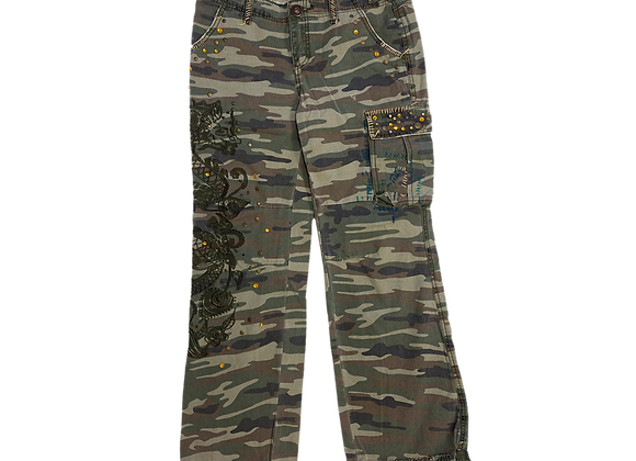Archive Bedazzled Camo Cargo Pants