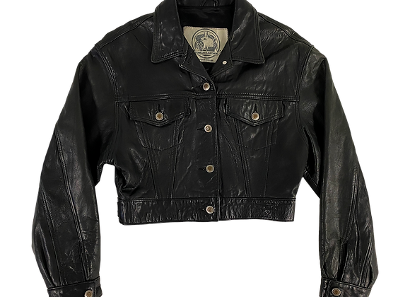 Archive Rockabilly Crop Leather Jacket