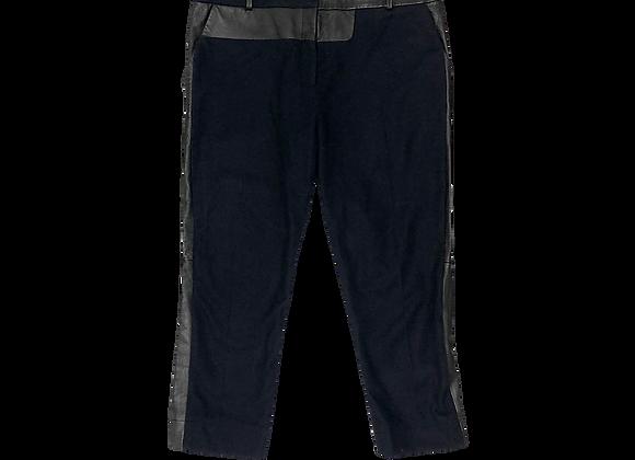 Archive Céline Wool Leather Paneled Pants