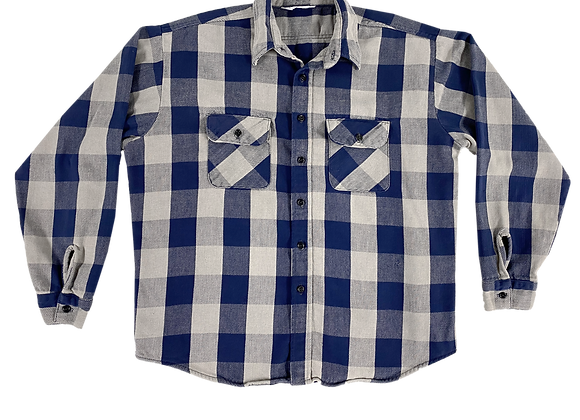 Archive Cobalt Blue Flannel