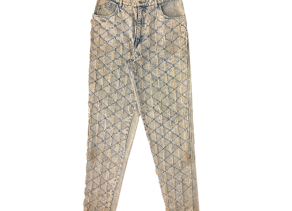 Archive Quilted Repaired Light Denim Jeans