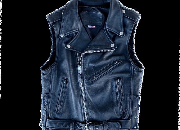 Archive Leather Biker Vest