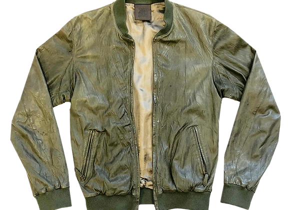 Archive Trussardi Olive Green Leather Jacket