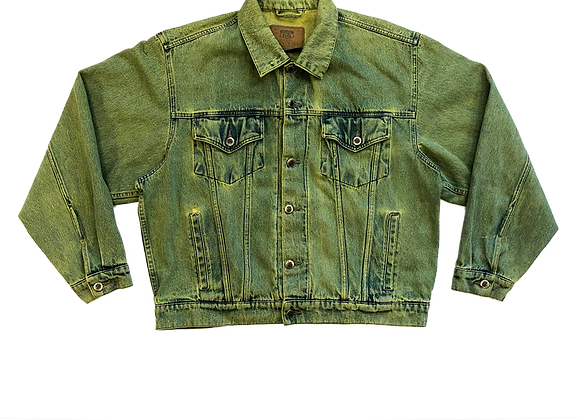 Over-dyed Denim Trucker Jacket