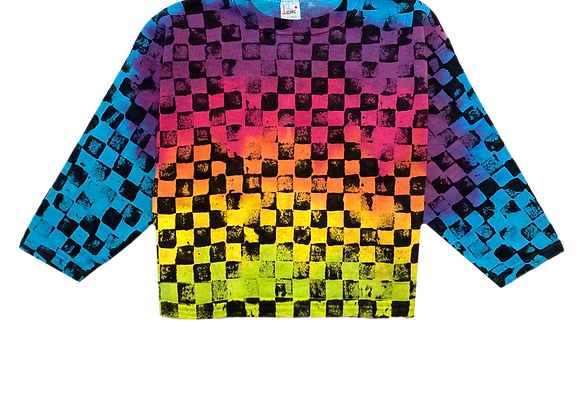 Archive All-Over Print Checkered Sweatshirt