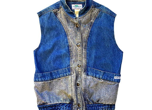 Patchwork Denim Vest