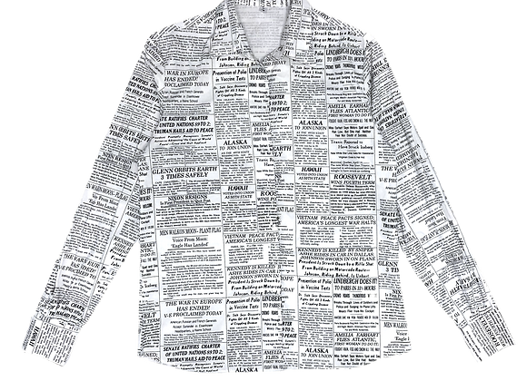 Newspaper Button Up Shirt