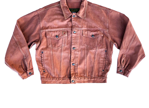 Archive Sandstone Distressed Denim Trucker Jacket