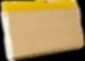 Rodo Serigrafia Cabo Madeira Borracha Amarelo