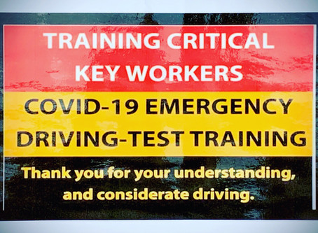 COVID-19 Key Worker Driver Training.