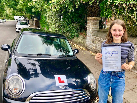 Congratulations Asha on passing your driving test so well with Zero minor faults!